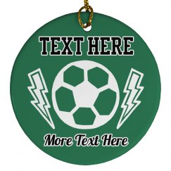 Custom Text Soccer Ball