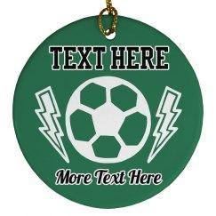 Custom Text Soccer Ball