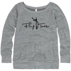 Flip Tease Logo Wide-Neck Sweatshirt