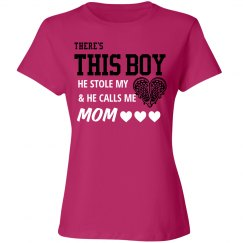 Cute Lacrosse Heart Mom