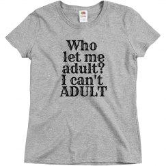 adult? woman's crew neck