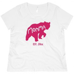 Custom Momma Bear Mother's Tee