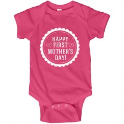 Happy 1st Mothers Day From Baby