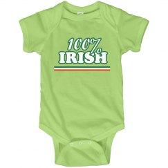 100% Irish St. Patrick's Onesie