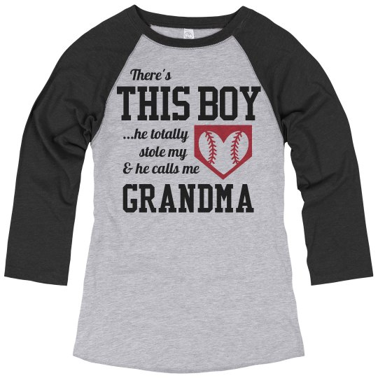 94edab93 A Baseball Grandma's Love Ladies Relaxed Fit 3/4 Sleeve Raglan T-Shirt