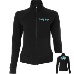 Truly Yoga Lotus Practice Jacket (Black/Opal Blue)