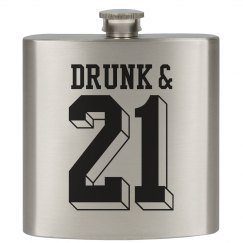 21st Drinking Flask
