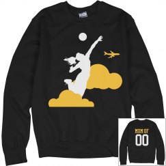 High Flying Funny Volleyball Mom Custom Sweater