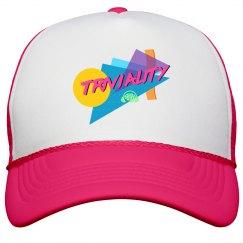 Triviality Trucker Hat Neon