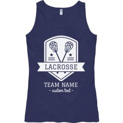 Custom Lacrosse Badge Lax Sport Tank