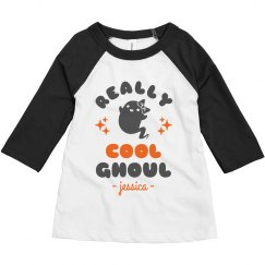 Really Cool Ghoul Toddler Raglan