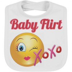 Baby Flirt Emoji Baby Bib