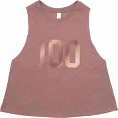 Be 100 Crop Pink Muscle T