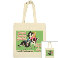 Pam's dog academy tote bag mini