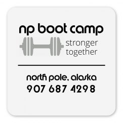 np boot camp fridge magnet