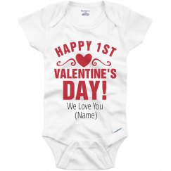 Custom Happy 1st Valentine's Day