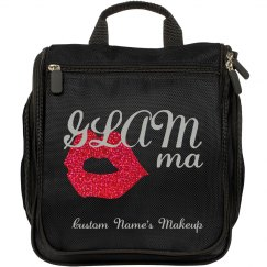 GLAMMa Glam Grandma makeup bag red glitter lips