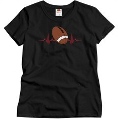 Heartbeat-Football Tee