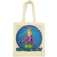 GADGET VLOGS bag purple logo canvas