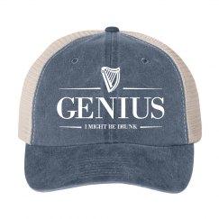 Genius Drunk Irish Drinking Hat