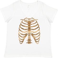 Metallic Plus Size Skeleton Costume