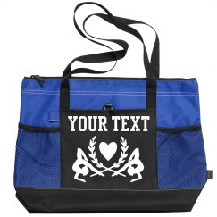 Add Custom Text To This Sports Bag