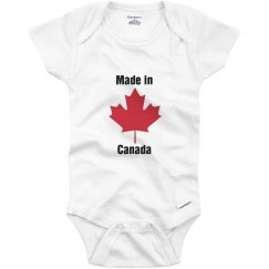 Made in Canada Infant top