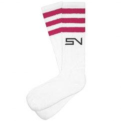 SN Striped Knee Socks