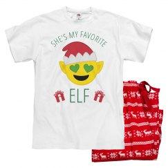 Emoji Papa Xmas Pajamas