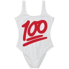100 Emoji Swimsuit