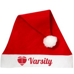 Varsity Football Santa Hat With Custom Text