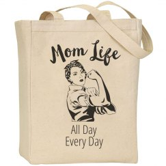 Mom Life All Day Every Day Tote Bag