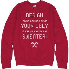 Pixel Christmas Custom Ugly Sweater