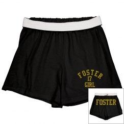 Foster Girl Black Cheer Shorts