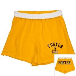 Foster Girl Gold Cheer Shorts