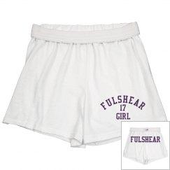 Fulshear Girl Purple Cheer shorts
