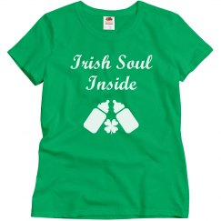 Irish Sould Inside St Patricks Maternity Tshirt