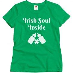 Irish Sould Inside St Patricks Maternity Tshirt