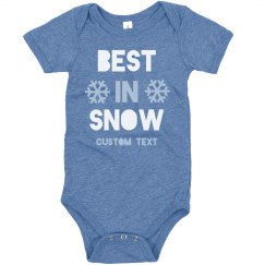 Best in Snow Custom Onesie