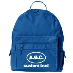 Custom Initials Cute Backpack