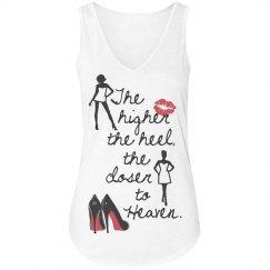High Heels & Heaven V-neck Tank