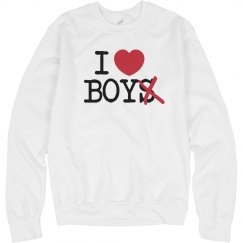I Heart Boy Crewneck