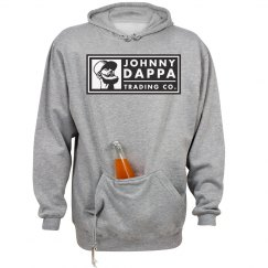 Johnny Dappa Trading Co. B&W Horizontal Tag Logo Hoodie