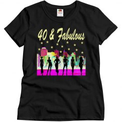 40 AND FABULOUS NYC DIVA TSHIRT