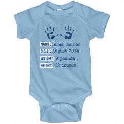 Blue Baby Announcement