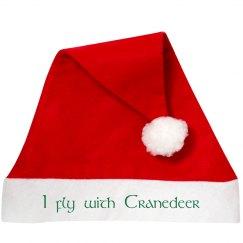 I fly with Cranedeer Santa Hat