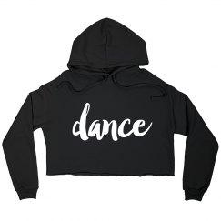 Dance cut off hoodie
