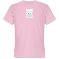 Microsoft Docs Logo Tee Pink