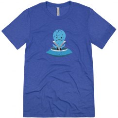 Sad Alien Tee Heather White