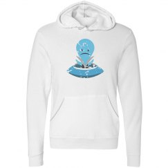 Sad Alien Fleece Pullover Hoodie White